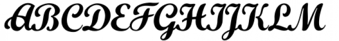 Khamden Script Regular Font UPPERCASE