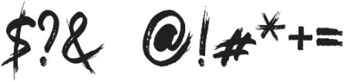 KILLA Regular otf (400) Font OTHER CHARS
