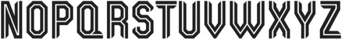 Kickoff Inline Condensed otf (400) Font UPPERCASE