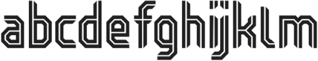 Kickoff Inline Condensed otf (400) Font LOWERCASE