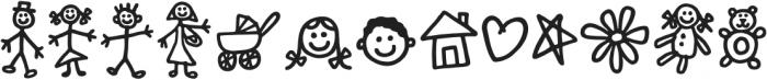 Kidwriting Dingbats Pro Bold otf (700) Font LOWERCASE