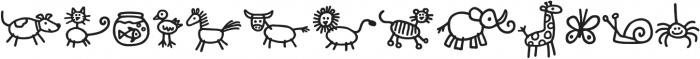 Kidwriting Dingbats Pro DemiBold otf (600) Font UPPERCASE