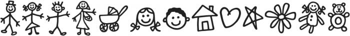 Kidwriting Dingbats Pro DemiBold otf (600) Font LOWERCASE