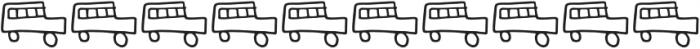 Kidwriting Dingbats Pro ExtraLight otf (200) Font OTHER CHARS