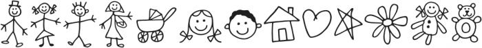 Kidwriting Dingbats Pro ExtraLight otf (200) Font LOWERCASE