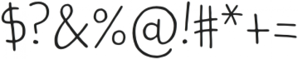 Kidwriting Pro ExtraLight otf (200) Font OTHER CHARS
