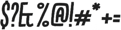 Kikster  bold italic otf (700) Font OTHER CHARS