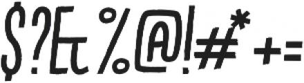 Kikster  italic otf (400) Font OTHER CHARS