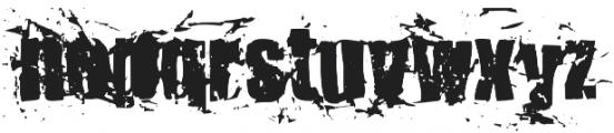 KillerAnts Bold otf (700) Font LOWERCASE