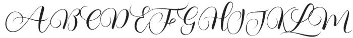 Kimberly Regular otf (400) Font UPPERCASE