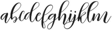 Kimberly Regular ttf (400) Font LOWERCASE
