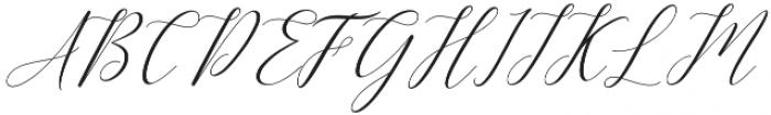 Kimberly Slant Regular otf (400) Font UPPERCASE