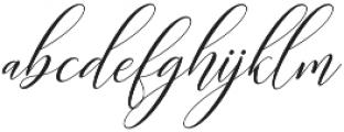 Kimberly Slant Regular otf (400) Font LOWERCASE