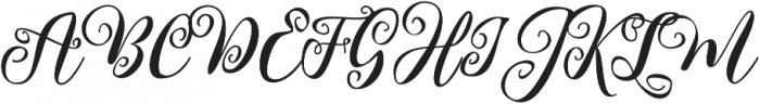 Kimberly otf (400) Font UPPERCASE