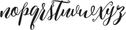 Kimberly otf (400) Font LOWERCASE