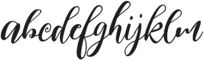 Kimberly ttf (400) Font LOWERCASE