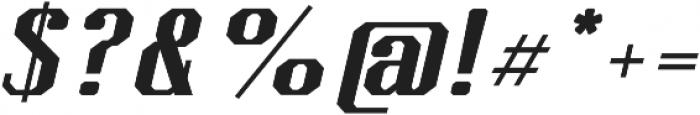 Kimbo Black Italic otf (900) Font OTHER CHARS