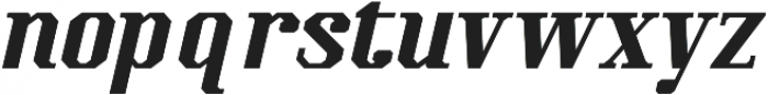 Kimbo Black Italic otf (900) Font LOWERCASE