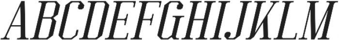Kimbo Italic otf (400) Font UPPERCASE