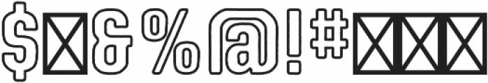 Kindling Outline otf (400) Font OTHER CHARS