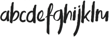 Kinemon One ttf (400) Font LOWERCASE