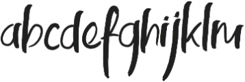 Kinemon Two ttf (400) Font LOWERCASE