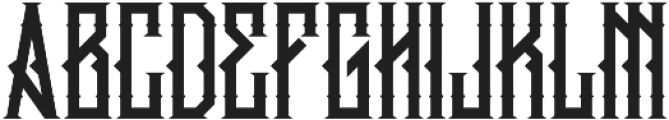 King Armored LC Alternate Regular ttf (400) Font UPPERCASE