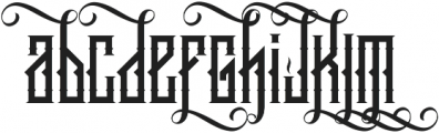 King Armored LC Alternate Regular ttf (400) Font LOWERCASE