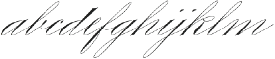 King Bloser One otf (400) Font LOWERCASE