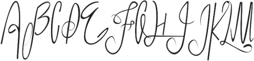King and Queen otf (400) Font UPPERCASE