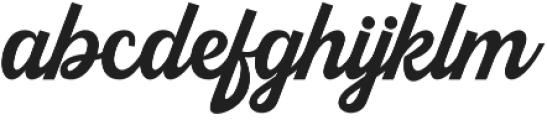 Kingfisher otf (400) Font LOWERCASE