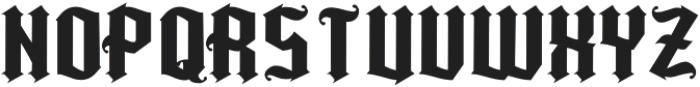 Kingshead Alternate Gothic Regular otf (400) Font UPPERCASE