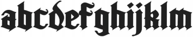 Kingshead Alternate Gothic Regular otf (400) Font LOWERCASE