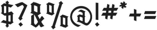 Kingshead Light Light otf (300) Font OTHER CHARS