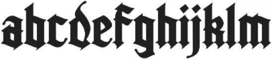Kingshead Regular otf (400) Font LOWERCASE
