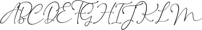 Kingsley otf (400) Font UPPERCASE