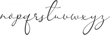 Kingsley otf (400) Font LOWERCASE