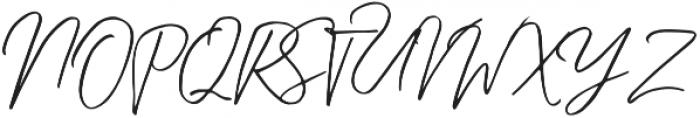 Kingstoner Signature Alt Regular otf (400) Font UPPERCASE