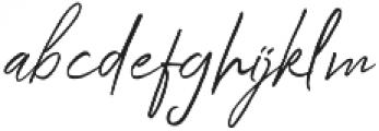 Kingstoner Signature Alt Regular otf (400) Font LOWERCASE