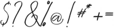 Kingstoner signature Regular otf (400) Font OTHER CHARS