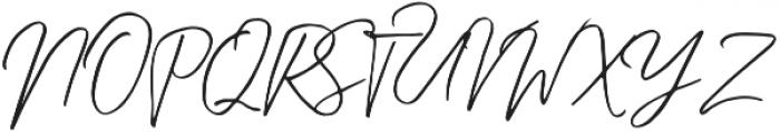 Kingstoner signature Regular otf (400) Font UPPERCASE