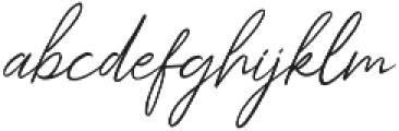 Kingstoner signature Regular otf (400) Font LOWERCASE