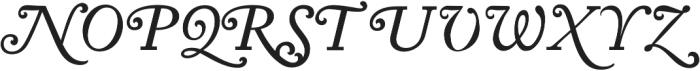 KirimomiSwash Italic otf (400) Font UPPERCASE