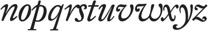 KirimomiSwash Italic otf (400) Font LOWERCASE