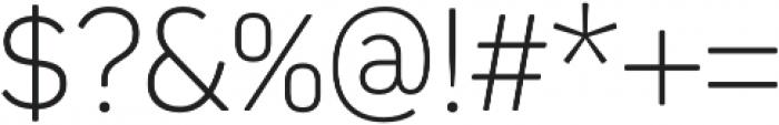 Kiro ExtraLight otf (200) Font OTHER CHARS