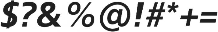 Kita Bold Italic otf (700) Font OTHER CHARS
