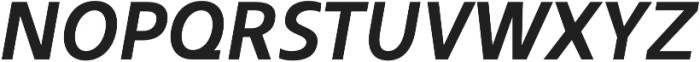 Kita Bold Italic otf (700) Font UPPERCASE