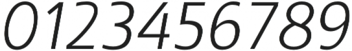 Kita Light Italic otf (300) Font OTHER CHARS