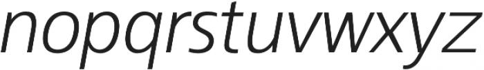 Kita Light Italic otf (300) Font LOWERCASE
