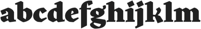 Kitsch Black otf (900) Font LOWERCASE